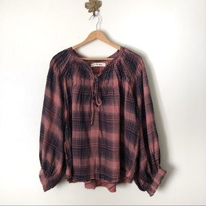 We The Free FP cloudbreaker plaid oversized tunic